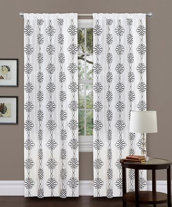 White Isabella Curtain Panel