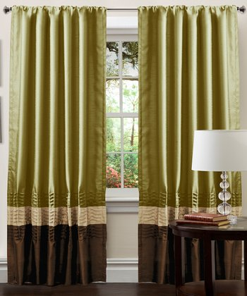 Apple Green Mia Curtain Panel - Set of Two
