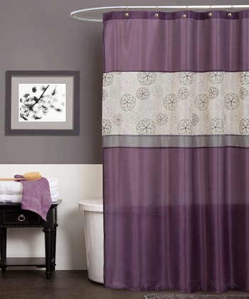 Purple Covina Shower Curtain