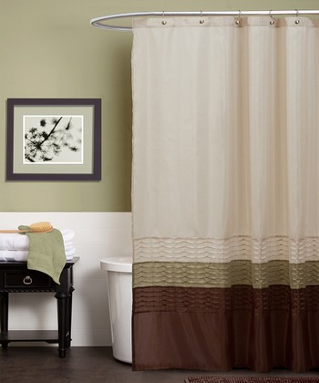Green & Brown Mia Shower Curtain