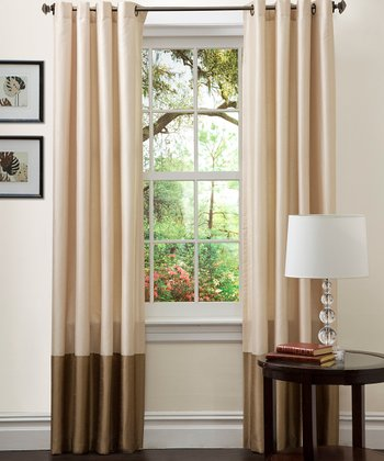 Taupe Prima Curtain Panel - Set of Two