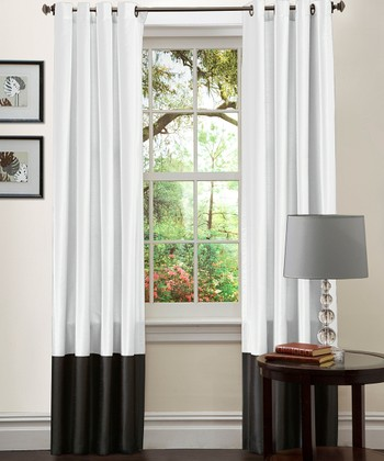 Black & White Prima Curtain Panel - Set of Two