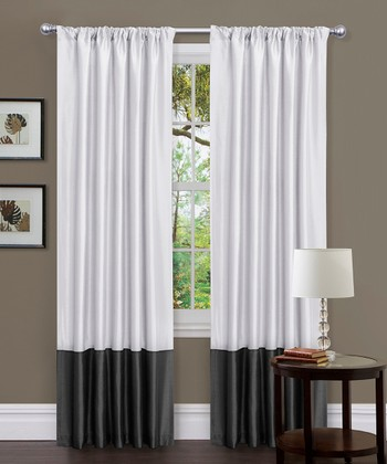 Black & White Milione Fiori Curtain Panel - Set of Two