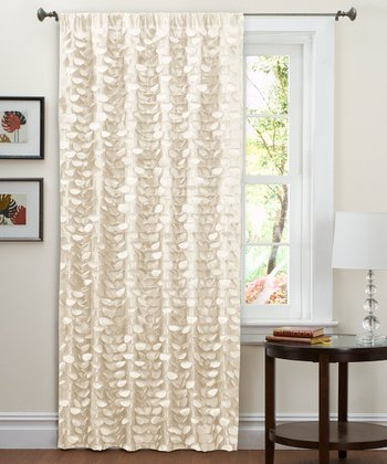 Beige Lillian Curtain Panel