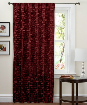 Red Lillian Curtain Panel