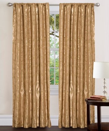 Gold Angelica Curtain Panel