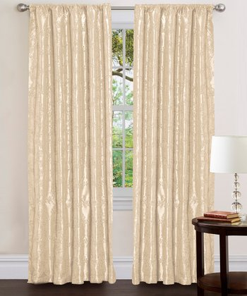 Beige Angelica Curtain Panel