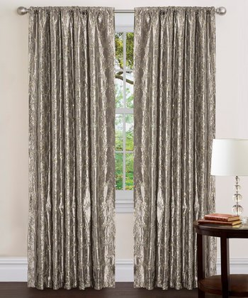 Silver Angelica Curtain Panel