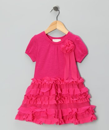 Pink Ruffle Dress - Infant & Girls