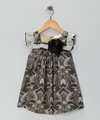 Black & White Swing Dress - Infant