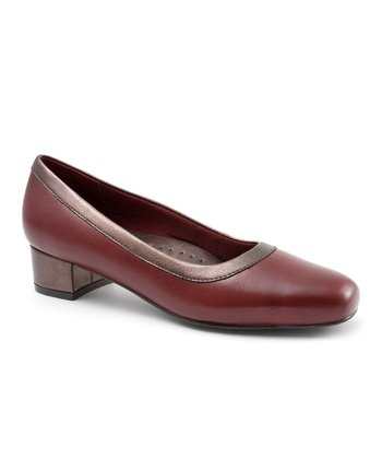Dark Red Dora Pump
