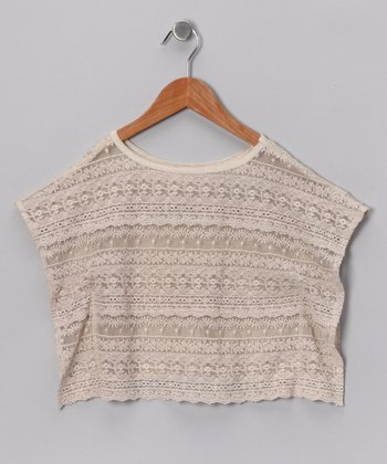 Beige Sahara Scarf Top - Girls