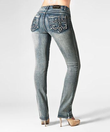Medium Blue Florence Straight-Leg Jeans