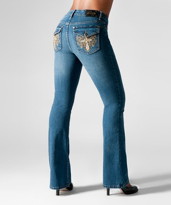 Medium Blue Munich Bootcut Jeans