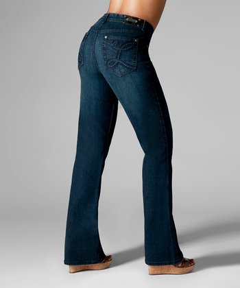 Dark Blue Los Angeles Bootcut Jeans