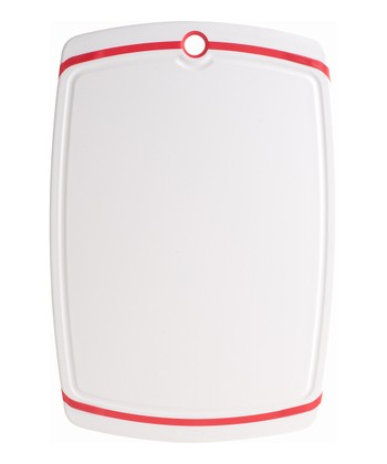 White & Red Cutting Board