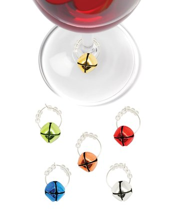 Jingle Bell Wine Charm Set