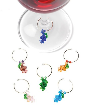 Grape Glass Wine Charm Set