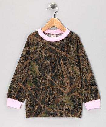 Pink & Conceal Camo Long-Sleeve Tee - Infant, Toddler & Girls