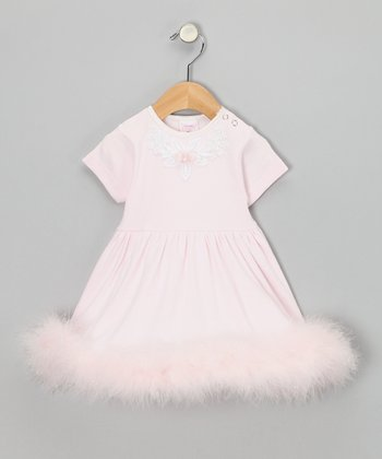 Pink Rose & Pearl A-Line Dress - Infant