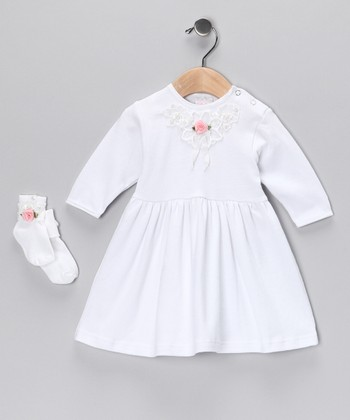 White Sara Dress & Socks