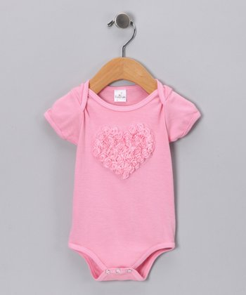 Pink Rosette Heart Bodysuit - Infant