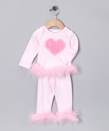 Pink Rose Heart Tee & Pants - Infant