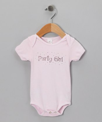 White 'Party Girl' Bodysuit - Infant