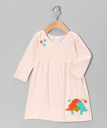 Peach Love Bird Dress