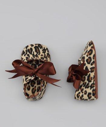 Truffles Ruffles Tan & Brown Leopard Mary Jane