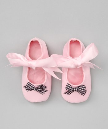 Pink & Black Frenchie Flat