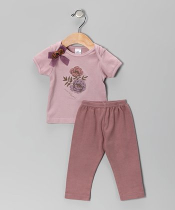 Dusty Plum 'Sweet Baby Girl' Tee & Pants - Infant
