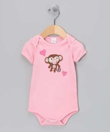 Pink Monkey Bodysuit - Infant