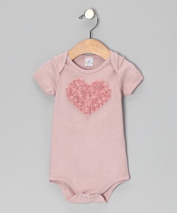 Mauve Rose Heart Bodysuit - Infant