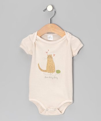 Tan 'Here Kitty Kitty' Bodysuit - Infant