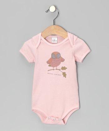 Truffles Ruffles Tawny Pink 'Whooo's Your Baby' Bodysuit