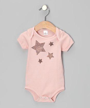 Truffles Ruffles Blush Sparkle Stars Bodysuit