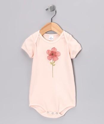 Truffles Ruffles Peach Fleur Petite Bodysuit