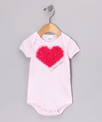Pink 'I Love You' Bodysuit