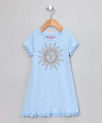 Baby Blue Sun Ruffle Dress - Toddler & Girls