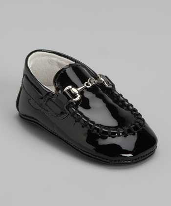 Black Patent Buckle Loafer