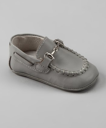 Light Gray Buckle Loafer