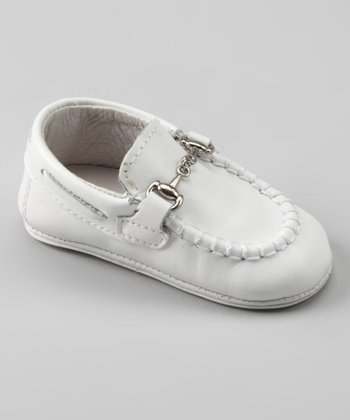 White Buckle Loafer