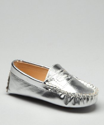 Silver Metallic Moccasin