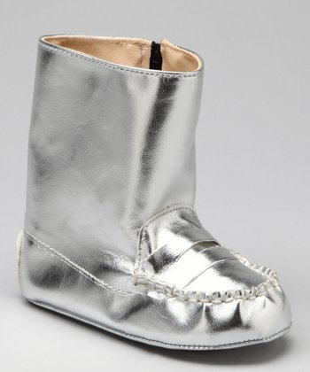 Silver Metallic Boot