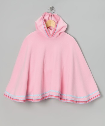 Pink Cotton Candy Poncho - Toddler & Girls