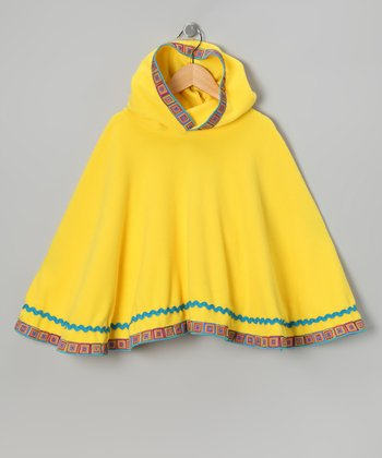 Yellow Rainbow Rocker Poncho - Toddler & Girls