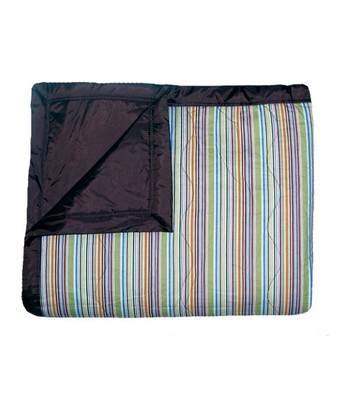 Tuffo Navy Mini Stripe Outdoor Blanket