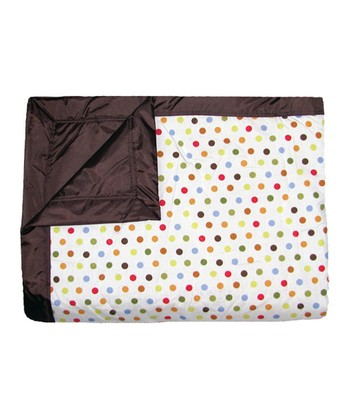 Brown Mini Dot Outdoor Blanket