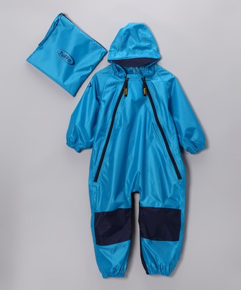 Blue Muddy Buddy Waterproof Coveralls - Infant & Toddler